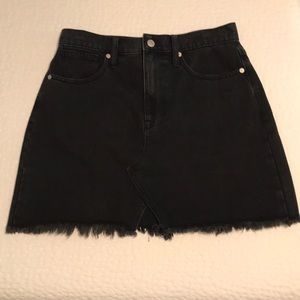 Madewell A-Line Black Denim Skirt